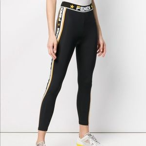 Fendi Pants Jumpsuits Logo Side Stripe Leggings Poshmark